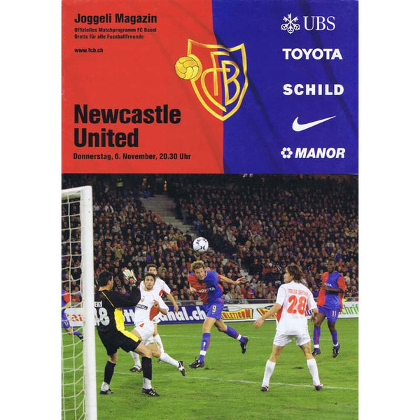 FC Basel v Newcastle United | UEFA Cup 6 November 2003 Programme | The Mag Shop