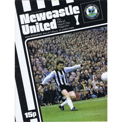Newcastle United v Bohemians | 28 September 1977 | UEFA Cup Programme | The Mag Shop