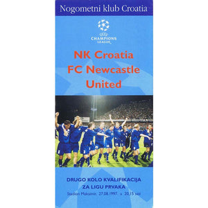NK Croatia v Newcastle United | Champions League 27 August 1997 Programme | The Mag Shop