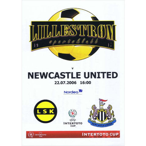 Lillestrom v Newcastle United | UEFA Intertoto Cup 22 July 2006 Pirate Programme | The Mag Shop