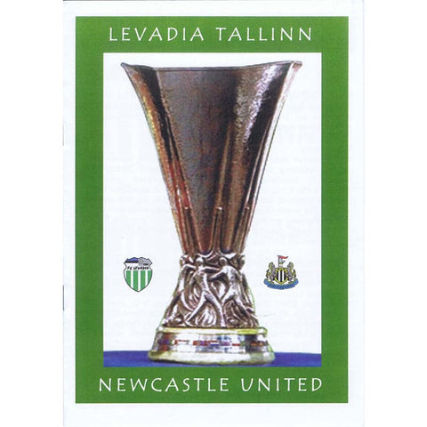 Levasia Tallinn v Newcastle United | UEFA Cup 14 September 2006 Pirate Programme | The Mag Shop