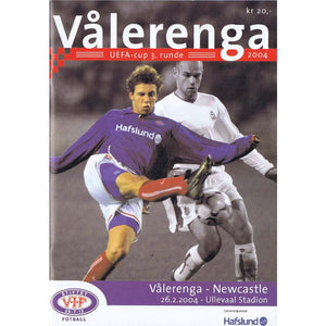 Valerenga v Newcastle United | UEFA Cup | 26 Feb 2004 Programme | The Mag Shop
