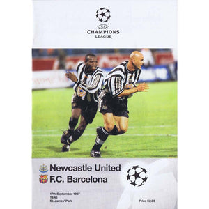 Newcastle United v Barcelona | 17 September 1997 | UEFA Champions League Programme | The Mag Shop