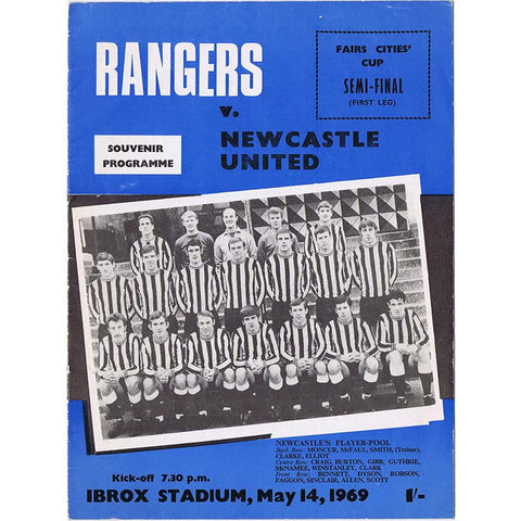 Rangers v Newcastle United | 14 May 1969 | UEFA Cup Programme | The Mag Shop