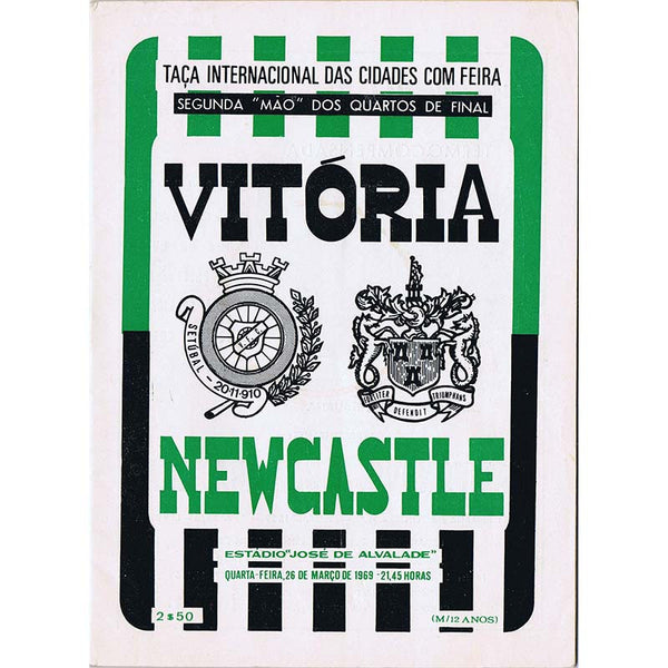 Viroria Setubal v Newcastle United | 26 March 1969 | UEFA Cup Programme | The Mag Shop