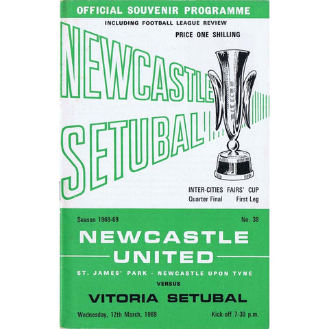 Newcastle United v Vitoria Setubal 12 March 1969 | UEFA Cup Programme | The Mag Shop