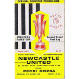 Newcastle United v Pecsi Dozsa | 21 October 1970 | UEFA Cup Programme | The Mag Shop