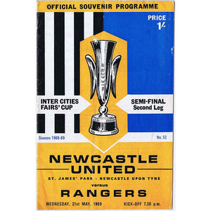 Newcastle United v Rangers | 21 May 1969 | UEFA Cup Programme | The Mag Shop