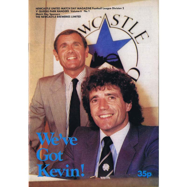 Newcastle United  v QPR | 28 August 1982 | Kevin Keegan | League Division Two Programme | The Mag Shop