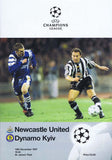 Newcastle United v Dynamo Kyiv | 10 Dec 1997 | UEFA Champions League Programme