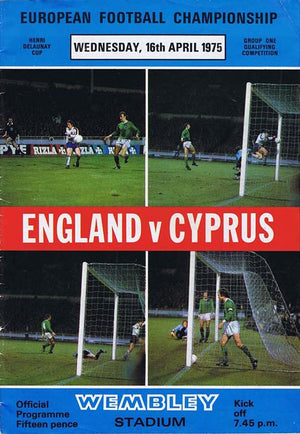 England v Cyprus | 16 April 1975 | Programme | The Mag Shop