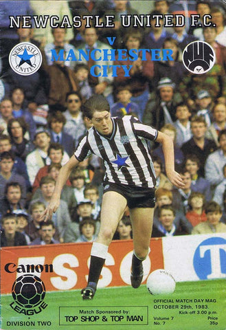 Newcastle United v Manchester City 1983 Programme | NUFC The Mag