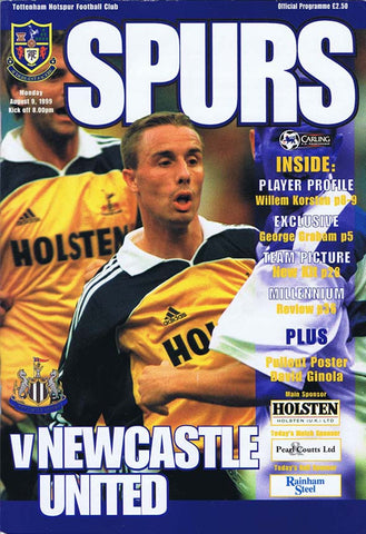 Tottenham v Newcastle United | 9 Aug 1999 | Programme | The Mag Shop