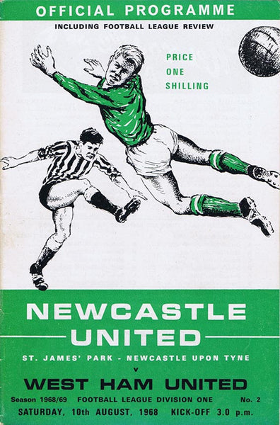 Newcastle United v West Ham | 10 August 1968 | Programme | The Mag Shop