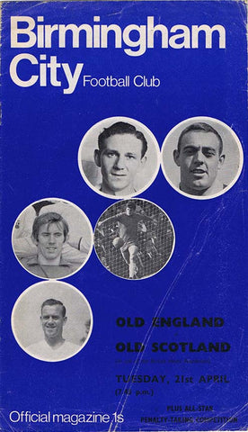 Old England v Old Scotland | 21 April 1970 | Programme | The Mag Shop