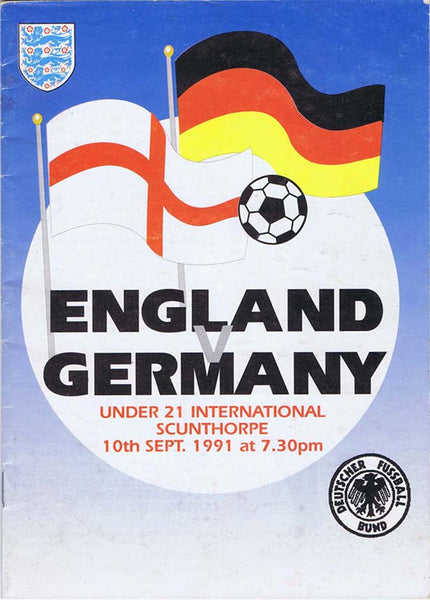 England v Germany | 10 Sept 1991 | Programme | The Mag Shop
