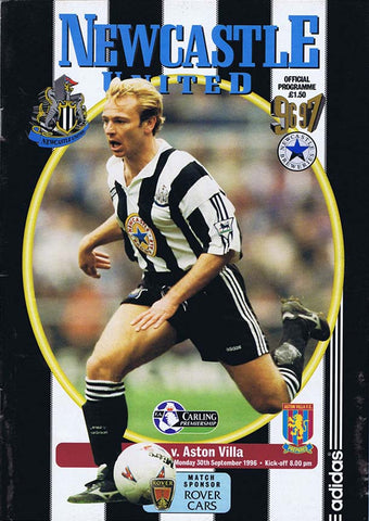 Newcastle United v Aston Villa | 30 Sept 1996 | Programme | The Mag Shop