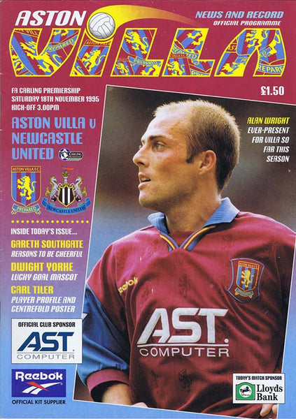 Aston Villa v Newcastle United | 18 Nov 1995 | Programme | The Mag Shop