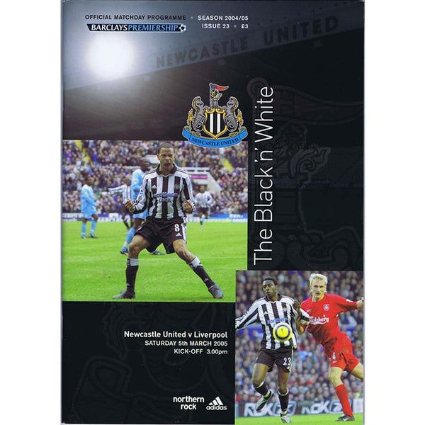 Newcastle United  v Liverpool | 5 March 2005 | Premiership Programme | The Mag Shop