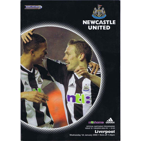 Newcastle United  v Liverpool | 1 Jan 2003 | Premiership Programme | The Mag Shop