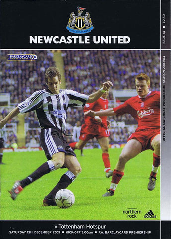 Newcastle United v Tottenham | 13 Dec 2003 | Programme | The Mag Shop