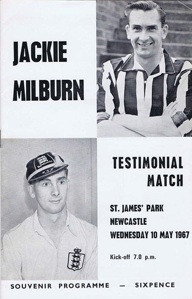 Jackie Milburn Newcastle United Testimonial Programme | NUFC The Mag Shop