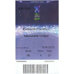 Eintracht Frankfurt v Newcastle United | 30 November 2006 | UEFA Cup Ticket | The Mag Shop