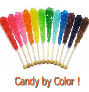 Purchase candy by color.