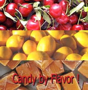 Purchase candy by flavors.
