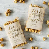 Personalized Carmel Corn Wedding Favors.