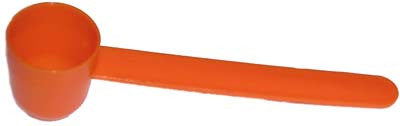 15 cc scoop long handle handle, safety orange color.