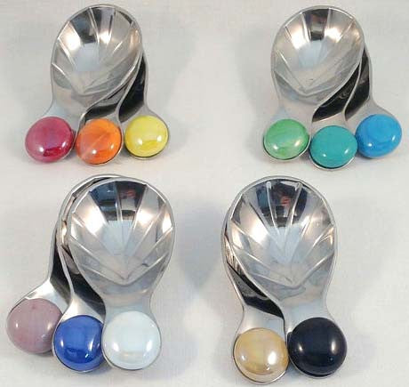 Tea Accessories: Beaded Tea Spoon..... Short and Sweet. Shiny Too! Scoops-Scoops.com