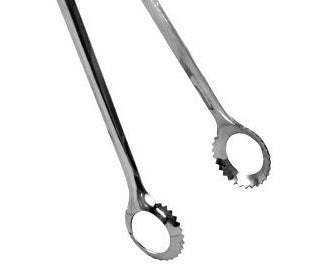 dispensary tongs, stainless steel 9.5 long
