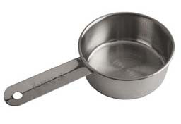 1/2 or 1 Cup Standard Duty Measuring Cup Only Stainless Steel. Hole in handle.