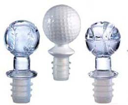 Bottle Stoppers: Baseball bottle stopper.  Golf Wine Bottle Stopper. Basketball bottle stopper topper.