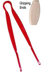 tongs: red 6 inch candy tong. CandyBuffetScoops.com