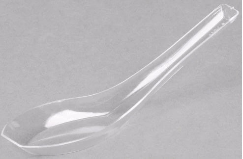 Clear plastic Oriental Spoon