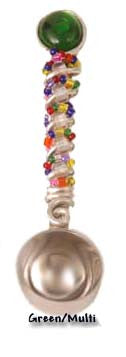 Scoops: Unique one-of-a-kind handmade beaded coffee scoop with premium quality glass beads and components. Your choice of colors. Scoops-Scoops.com