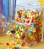 Mini Candy containers with scoop.  GREAT as a take home favor.
