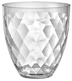 "Candy Buffet Containers: This clear acrylic diamondback container has ""elegant"" written all over it. Scoops-Scoops.com"