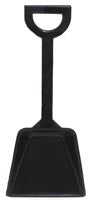 Black toy sand shovel. Mini sand shovels.