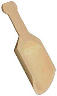 Wood Scoops: Sanded birch wood scoop. Hard Birch Wood with knob handle.
