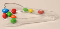 "plastic candy scoops and tongs 6 inch clear acrylic tong. 400607 - Carly® Salad Tong 6-7/32"" - Clear"
