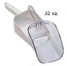 Scoops: 32 ounce white flat bottom scoop is great for scooping large amounts.