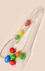 "4006 - Carly® Salad Tong 6-7/32"" - Clear plastic candy scoops and tongs"