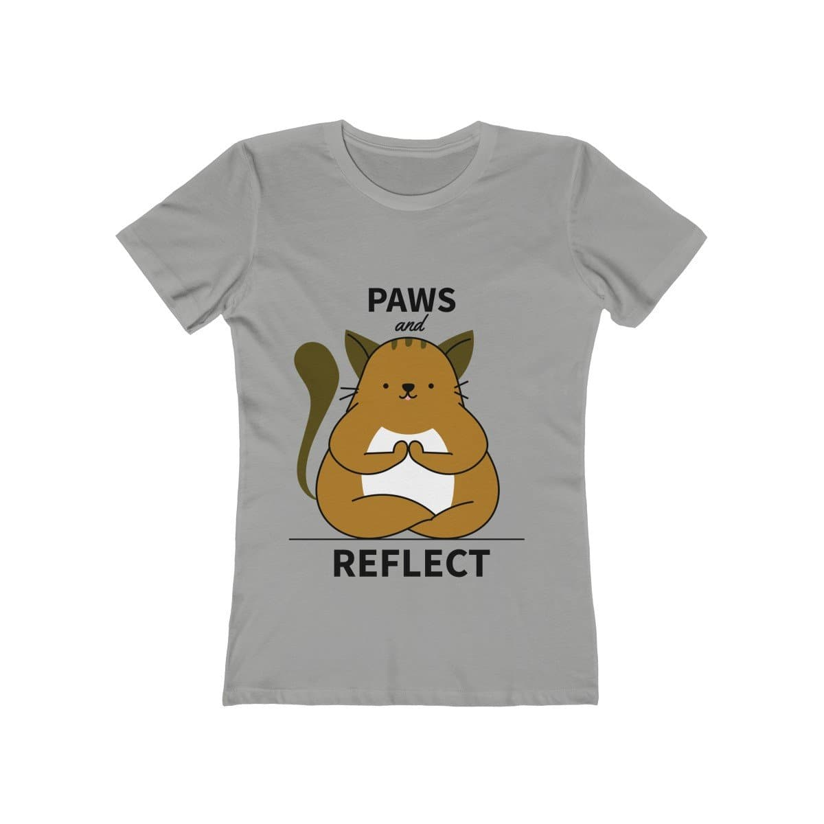 Meditating Cat Women's Tee - Sutra Wear