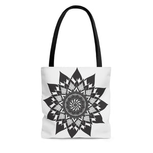 Monochrome Mandala Tote Bag - Sutra Wear