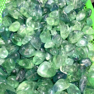 100g Green Fluorite Tumbled Stones - Sutra Wear