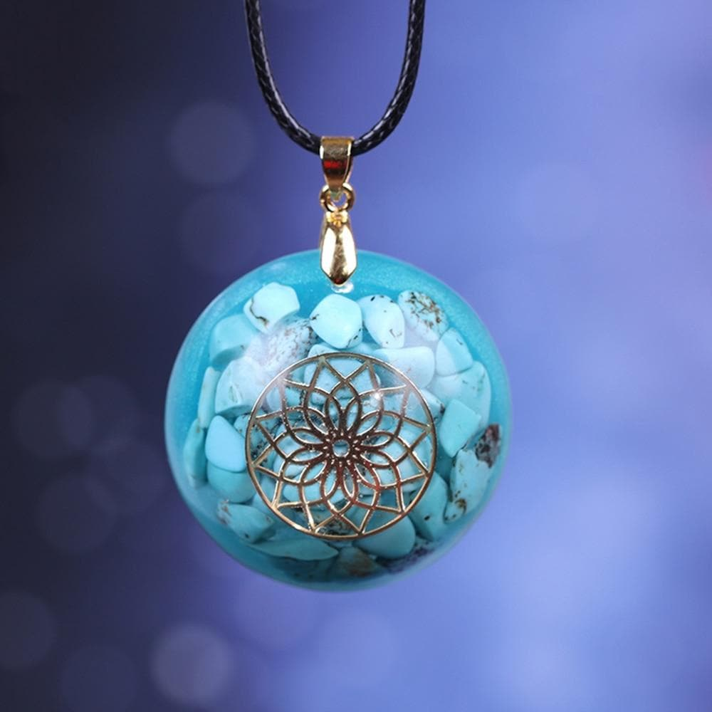 Turquoises Reiki Stone Orgonite Energy Necklace - Sutra Wear