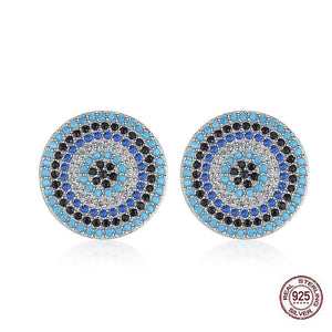 Big Evil Eye 925 Sterling Silver Studs - Sutra Wear